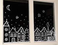 Christmas / winter pots – SIMPLY MADE by ALMA You are in the right place about christmas fondos Here we … Diy Crafts To Do, Christmas Crafts, Deco Table Noel, Christmas Window Decorations, Christmas Window Display, Navidad Diy, Window Art, Chalkboard Art, Christmas Holidays