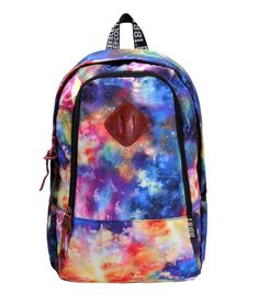 "Amazon.com: ZLYC Fashion Unisex Universe Neon Galaxy Pattern Print Casual School Travel 13"" Laptop Backpack Daypack Tablet Bags Student Schoolbag Orange: Sports & Outdoors"