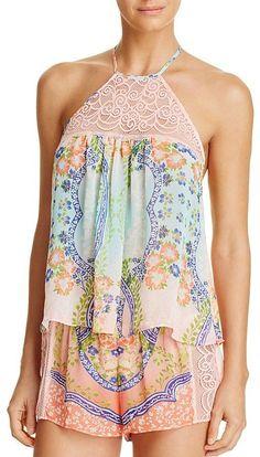 5d06c1bc80e Asvivid Women s Summer Halter Neck Floral Print Sleeveless Casual ...