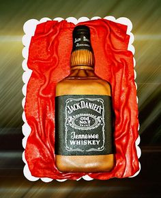 jack daniels bottle cake by The House of Cakes Dubai, via Flickr