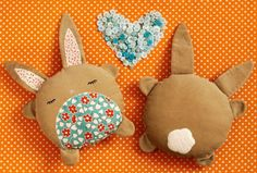 PDF Sewing Pattern Betsy & Basil Bunny Softies. $8.00, via Etsy.