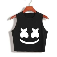 2017 New Arrival Summer Women Tops marshmello face Crop Top High Quali – moflily Girls Fashion Clothes, Teen Fashion Outfits, Outfits For Teens, Girl Outfits, Cute Lazy Outfits, Crop Top Outfits, Trendy Outfits, Girls Crop Tops, Cute Crop Tops