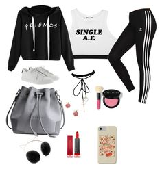 """""""Untitled #58"""" by giuliaabalanuta on Polyvore featuring adidas Originals, Yves Saint Laurent, LC Lauren Conrad, WithChic, Sydney Evan, Bobbi Brown Cosmetics and Max Factor"""
