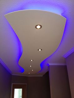 Ceiling sail - suspended ceiling with indirect lighting  #ceiling #indirect #lighting #suspended Ceiling Curtains, Home Ceiling, Ceiling Decor, Ceiling Beams, Led Ceiling, Hallway Ceiling, Hall Lighting, Indirect Lighting, Suspended Lighting