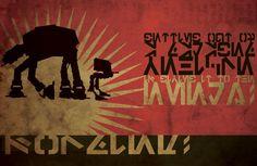 Star Wars illustrations - propaganda style | By: Patty McPancakes, via GeekTyrant (#starwars #atat)