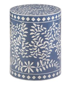 Love this Blue Mosaic Drum Table on #zulily! #zulilyfinds