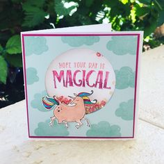 Magical Day, Stampin' Up!, Shaker Card, Unicorn