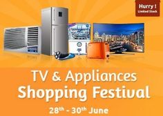 Shopclues Big Shopping Festival Sale 28-30 June : Upto 90% OFF on TV and Appliances