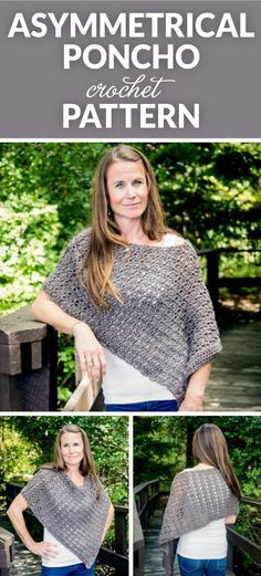 Asymmetrical Poncho Crochet Pattern I don't know about you, but it feels like fall just crept up on us. This year has flown by and soon enough it will be holiday season! That makes this Asymm…