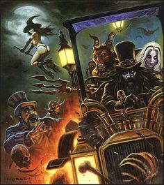 Nice bit of artwork by Horley💀 Horror Icons, Horror Movie Posters, Horror Comics, Movie Poster Art, Arte Horror, Horror Art, Rob Zombie Art, Horror Themes, Vintage Horror