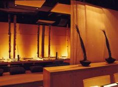Japanese restaurant in Barcelona...Love the lighting and warmth