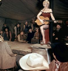 Marilyn filming River of no Return, 1953.