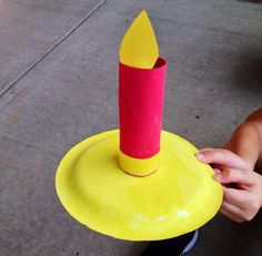 "Candle Kindergarten craft - made from a painted paper plate and a toilet paper roll covered with red construction paper. We use this to act out the nursery rhyme ""Jack Be Nimble"", but it would be great for Advent or Christmas too!"