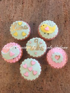Spring 9 month milestone cupcakes
