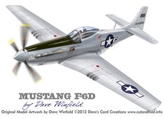 F-6D Mustang Snooks 5th- Paper Model Mockup Artwork by Dave Winfield - www.papermodelshop.com