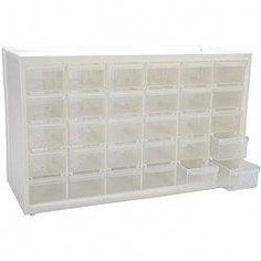 This cabinet is ideal for storing your arts and craft supplies. The transparent design makes it easy to find just what you're looking for. This handy cabinet sports 30 individual drawers, so it's simp Scrapbook Organization, Craft Organization, Scrapbook Supplies, Scrapbooking, Organizing Crafts, Hobby Electronics Store, Art Bin, Craft Room Storage, Craft Rooms