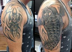 NATHAN REALLY CAN COVER ANYTHING!! Who would of thought you could cover a big tribal with black and grey. If you have any tattoos that need covering then Nathan is your man. Call us on 01253 932549, message our page, visit our website or call in to see us on Whitegate Drive.