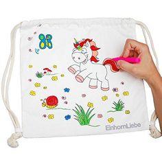 Oferta: 14.95€. Comprar Ofertas de Unicornio de mochila–Bolsa de gimnasia para manualidades de Juego para niños y niñas de algodón 100% para sí para pintarlas barato. ¡Mira las ofertas!