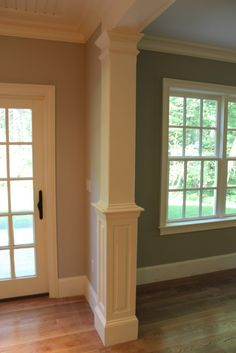 Window moldings on pinterest window trims house and kitchens - Columned Opening