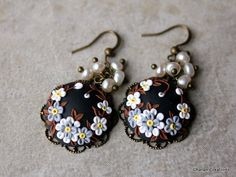 Check out this item in my Etsy shop https://www.etsy.com/listing/230826860/polymer-clay-floral-applique-earrings