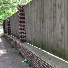 A cheaper way of doing a brick fence
