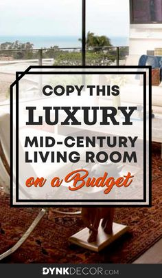 Mid-Century Living Room Decor Inspiration - Are you looking to redesign or redecorate your living room with a little luxury? Want to have a living room that looks like you had a celebrity interior designer create it? Check out how you can copy the style of this fabulous modern living room for yourself, without maxing out credit cards. #midcenturymodern #livingroom #interiordesign #homedesign #furniture #budget #luxurylivingroom #luxuryhome