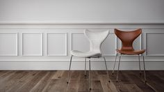 The lily chair fully upholsteret in leather and fabric