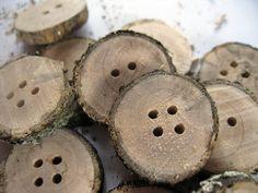 Botones de madera paso a paso