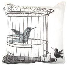 Pillow- PUTE FRA ENGLAND BIRDCAGE TWO BIRDS 45*45 komplett - Interiør