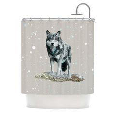 Shower Curtain - Wolf- Monika Strigel