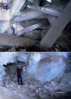 Amazing Cave of the Crystals in Mexico. Dialogue is in Spanish, but the photography is spectacular.