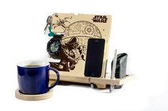 Stand Star Wars Darth Vader Luke Skywalker Star by WoodYouLikeIt1