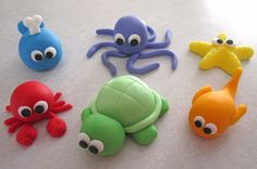 ocean cupcakes | Sea Creature Cupcake Toppers 1 Dozen by sweetenyourday on Etsy