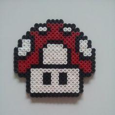 Mario mushroom hama perler beads by nalle333