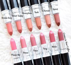 MAC Creme In Your Coffee Lipstick Mehr Twig Dupe Swatches