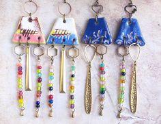 Chandelier multicolore, Boucle d oreille perle, Hippie chic : Boucles d'oreille par cocoflower