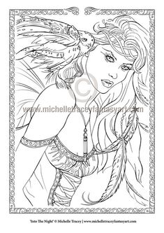 fantasy coloring pages for adults # 25