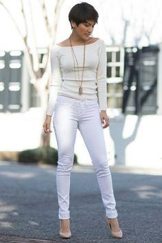 Classic Spring Top: H&M Jeans: Vestique Necklace: Sigalie Jewelry Katherine V.