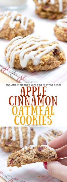 healthy cookies Soft and chewy Apple Cinnamon Oatmeal Cookies are perfect HEALTHY high-fiber snack ready in just 20 minutes. These oatmeal cookies are incredibly good, very nutritious, made with all wholesome ingredients and refined sugar-free. High Fiber Snacks, High Fiber Breakfast, High Fiber Foods, High Fiber Recipes, Sugar Free Cookies, Sugar Free Desserts, Recipe For Sugar Free Oatmeal Cookies, Sugar Free Apple Cake, Sugar Free Cookie Recipes