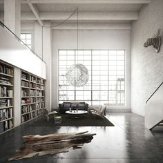 OMG! YES!    Apartment Loft Library Design, Photo  Apartment Loft Library Design Close up View.