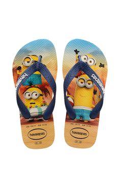 2cd827a264ed36 Kids Havaianas!  minions  kids  sandals  beach  beachlife  disney