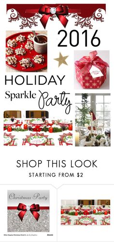 """Holiday Party"" by kristina-sandvig on Polyvore featuring interior, interiors, interior design, home, home decor, interior decorating, Bloomingville, HolidayParty and deckthehalls"