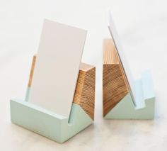 Reclaimed Wood Business Card Holders