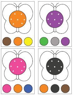 Color sorting and matching activities Autism Activities, Color Activities, Infant Activities, Kindergarten Activities, Teaching Kids Colors, Kindergarten Colors, Kids Learning, Matching Games For Toddlers, Preschool Painting