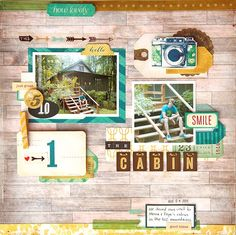 deb duty {photography + scrapbooking}: scrapbook layout: the cabin with maggie holmes