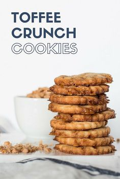 Bits'o Brickle Toffee Crunch Cookies - sweet, crispy, and highly addictive