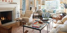 Portola Valley - Mark D. Sikes - fabulous new trad #livingroom