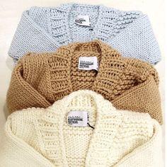 TEXTURED CARDIGANS   via @bassike #bigknits #heartworking #knitwear #Bassike #Australia #ilovemrmittens #wool