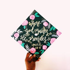 Custom Graduation Cap by dinahscalligraphy23 on Etsy