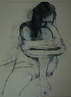 seated figure no. 2 by Mark Horst, via Flickr. Conte on paper